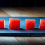 Compressed & Infused Watermelon Cubes