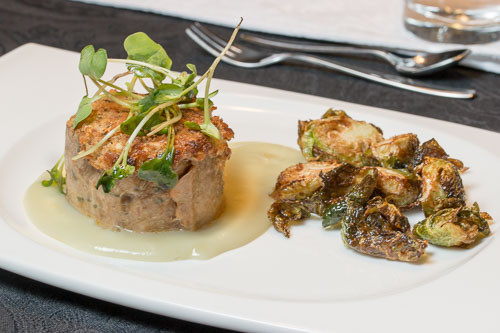 Sous Vide Meatloaf with Hazelnut Crust