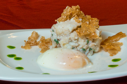Sous Vide Lobster Tail Salad with Sous Vide Poached Egg