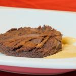 Chocolate Brownie & Sous Vide Creme Anglaise