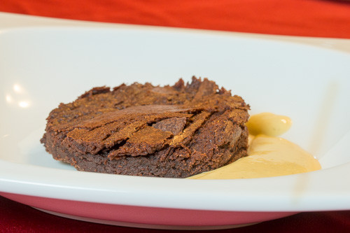 Chocolate Brownie with Sous Vide Crème Anglaise
