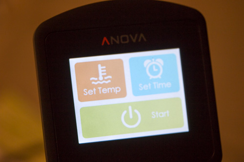 Anova Start Screen