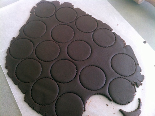 Oreos - Punched Dough