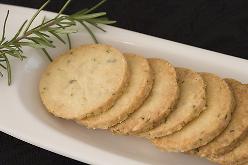 Finished Parmesan Rosemary Cookies