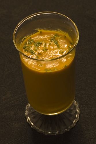 Finished Caramelized Carrot Soup