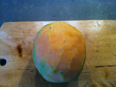 Peeled Cantaloupe for Melon Tasting