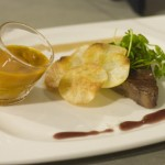 Sous Vide Prime Sirloin, Potato Pinwheel, Bone Marrow Sauce & Bordelaise Syrup