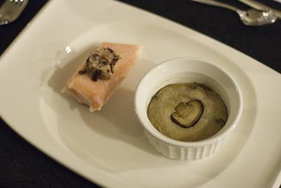 Salmon with Mushroom Pate