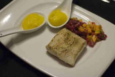 Swordfish, Mango Puree and Salsa